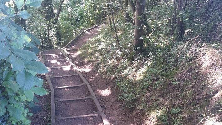 Wandelpad tijdens wandeling van Carlisle naar Bownes op wandelreis over Muur van Hadrianus in Engeland