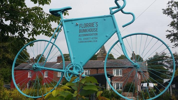 Florrie's Bunkhouse tijdens wandeling van Lanercost naar Carlisle tijdens wandelreis over Muur van Hadrianus in Engeland