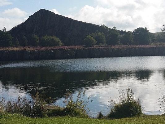 Gilsland op een wandeling van Once Brewed naar Lanercost op wandelreis over Muur van Hadrianus in Engeland