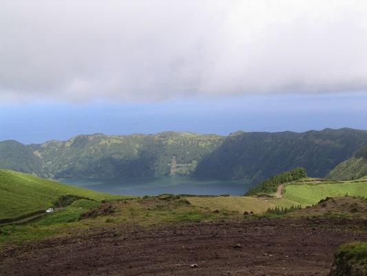 Sete Cidades tijdens een wandelvakantie op eiland Sao Miguel op de Azoren