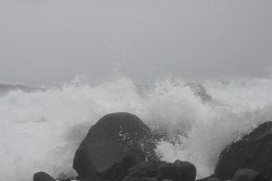 Ruige kust bij La Playa op wandelreis naar Canarisch Eiland La Gomera