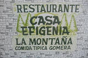 Restaurante Casa Efigenia in Las Hayas op wandelreis naar Canarisch Eiland La Gomera