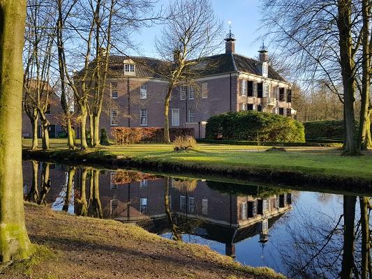 Kasteel Groeneveld tijdens een NS-wandeling Landgoed Groeneveld van Baarn naar Hilversum