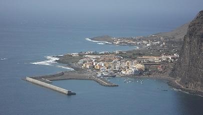 Zicht op de haven van La Gomera in Valle Gran Rey