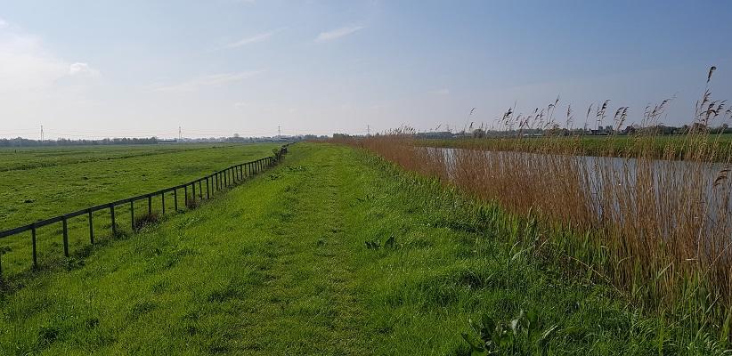 Wandelen over het Romeinse Limespad van Driebruggen naar Woerden langs de Dubbele Wiericke