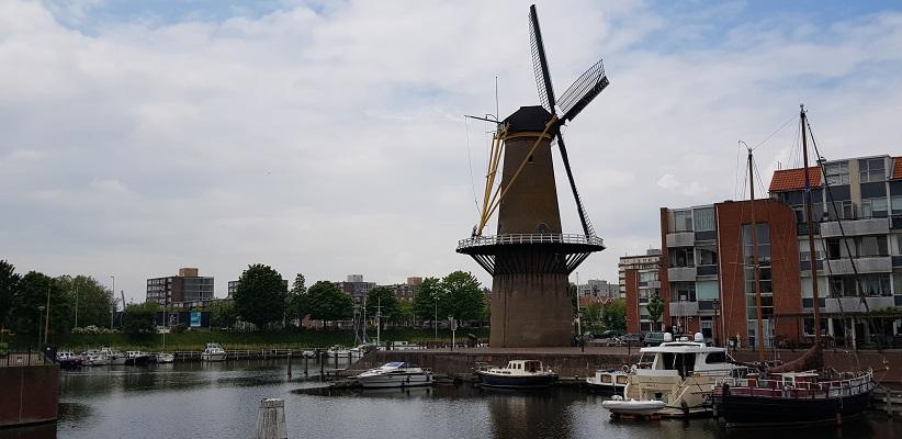 NS-wandeling Rotterdam Maasstad bij molen De Distilleerketel in Delfshaven