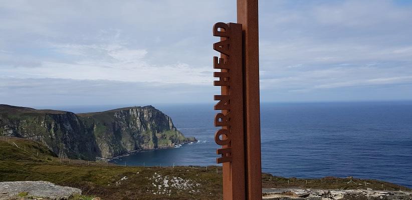 Wandeling op Horn Head in Ierland