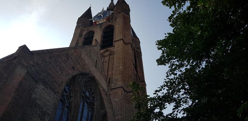 Wandelen in Delfland in Centrum Delft bij de Oude Kerk