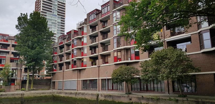 Woningbouw tijdens wandeling Creative Crosswalks Rotterdam