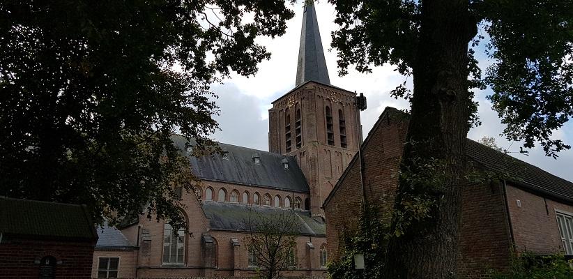 Kerk van Bakel tijdens wandeling Heemkundekring Bakel