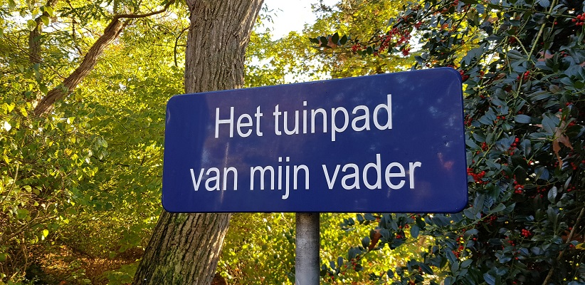 Wandeling in Deurne over het Tuinpad van mijn vader
