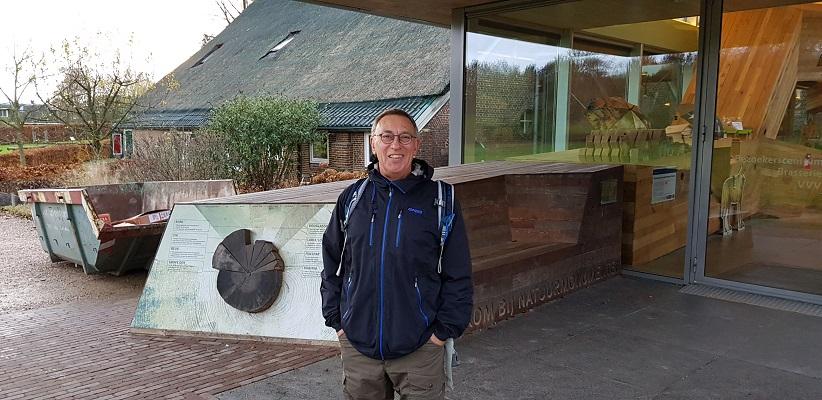 Wandeling over Trage Tocht Posbank bij Rheden samen met bedenker en routemaker Rob Wolfs