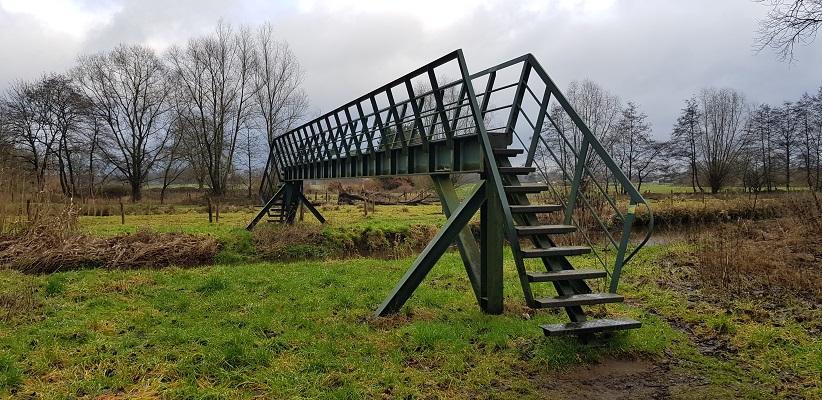 Trage Tocht Waalre bij brug over de Dommel