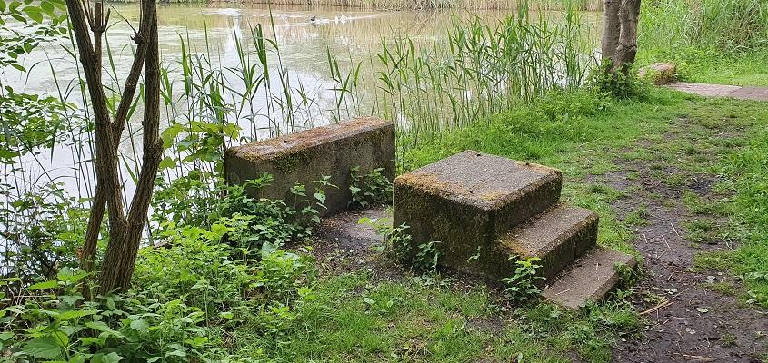 Laarzenpad Ossemeren bij springplank voormalige zwembad Oss