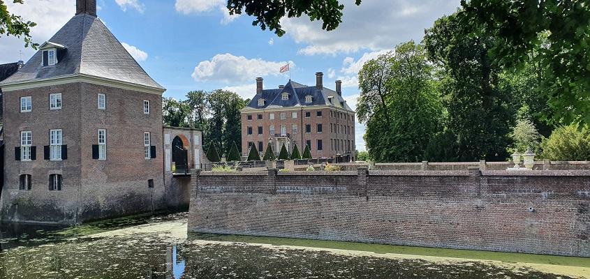 Wandeling over Trage Tocht Amerongen bij het kasteel