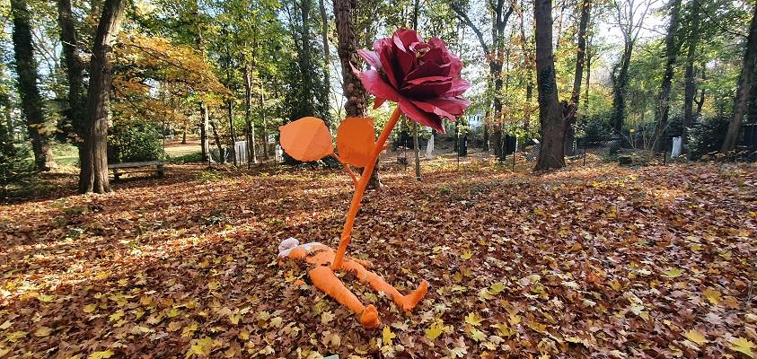 Kunstwandeling in het Odapark in Venray