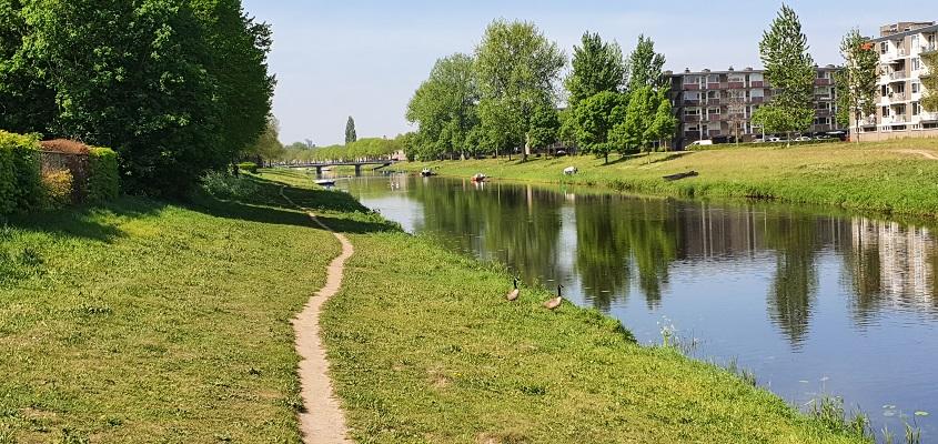 Wandeling over Trage Tocht Den Bosch langs de Aa