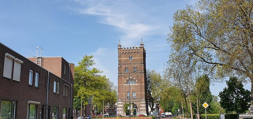 Wandeling over Trage Tocht Den Bosch bij de watertoren