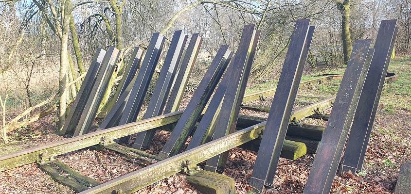 Wandeling over Trage Tocht Mill bij asperges op het Duits Lijntje
