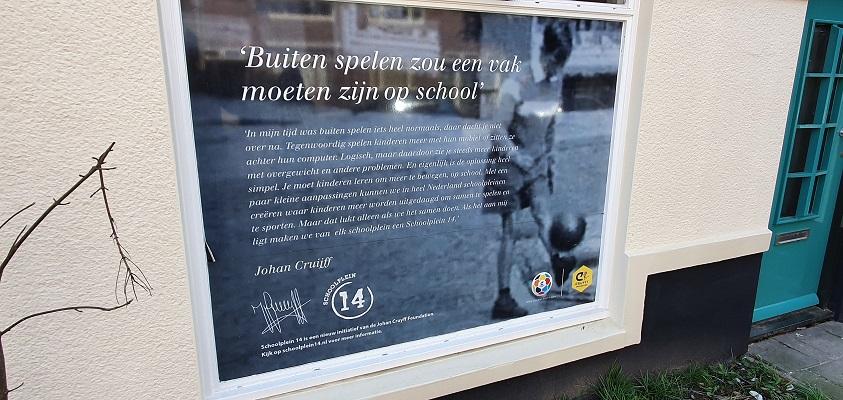 Wandeling over Trage Tocht Amsterdam Watergraafsmeer bij het geboortehuis van Johan Cruyff in Betondorp