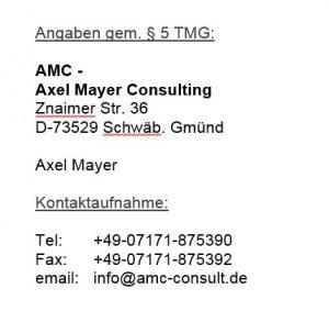 Impressum: www.amc-consult.de