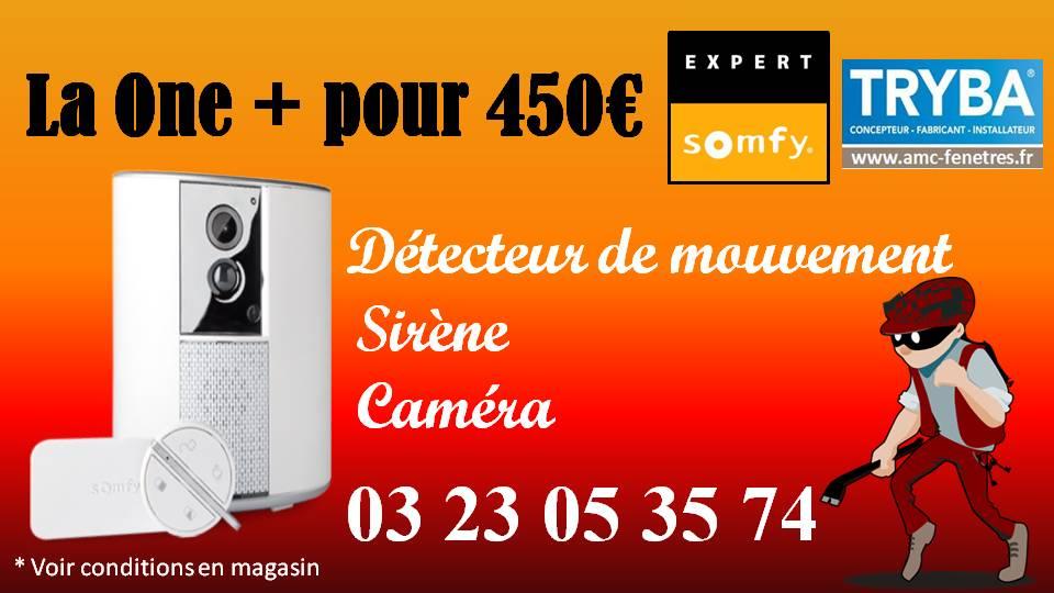 SOMFY ONE+ : détecteur de mouvement + sirène + caméra
