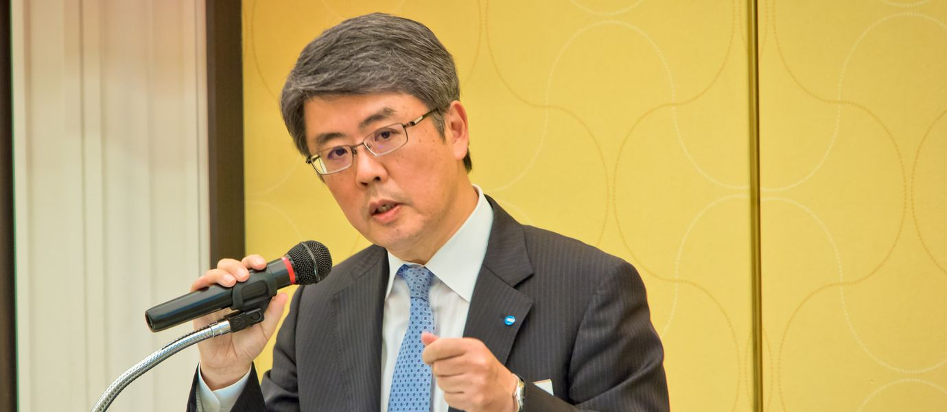 Mr. Tsukasa Wakashima, Senior Executive Officer, Konica Minolta, Inc Header