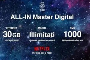 3 Italia annuncia ALL-IN Master Digital e Prime Digital