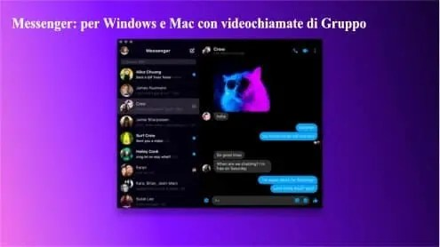 Messenger: per Windows e Mac con videochiamate di Gruppo
