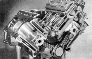 Cutaway View of V8 Engines