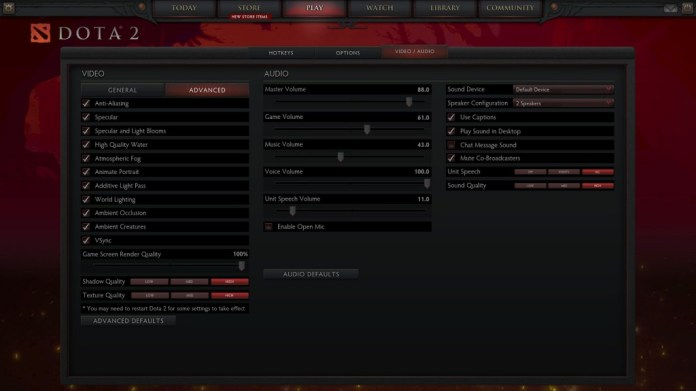 Dota 2 Resolusi Full HD Asus N551ZU Set High