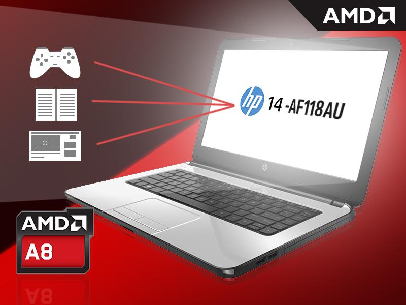 HP 14-af118AU dengan APU A8-7410
