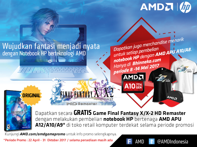 Promo Final Fantasy dan Bonus Merchandise AMD Bhinneka.Com