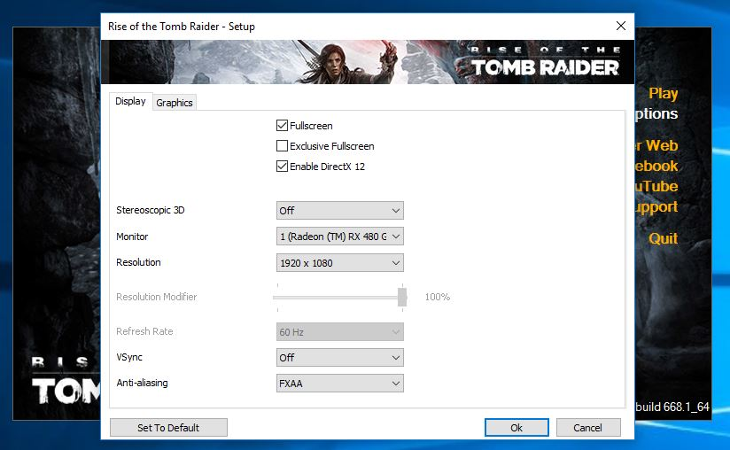 Rise of The Tomb Raider FX 8350 + RX 480