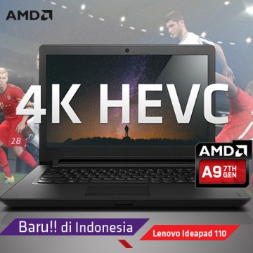 GAMING REVIEW Lenovo IdeaPad 110, Notebook Gaming Terjangkau Bertenaga AMD APU A9!