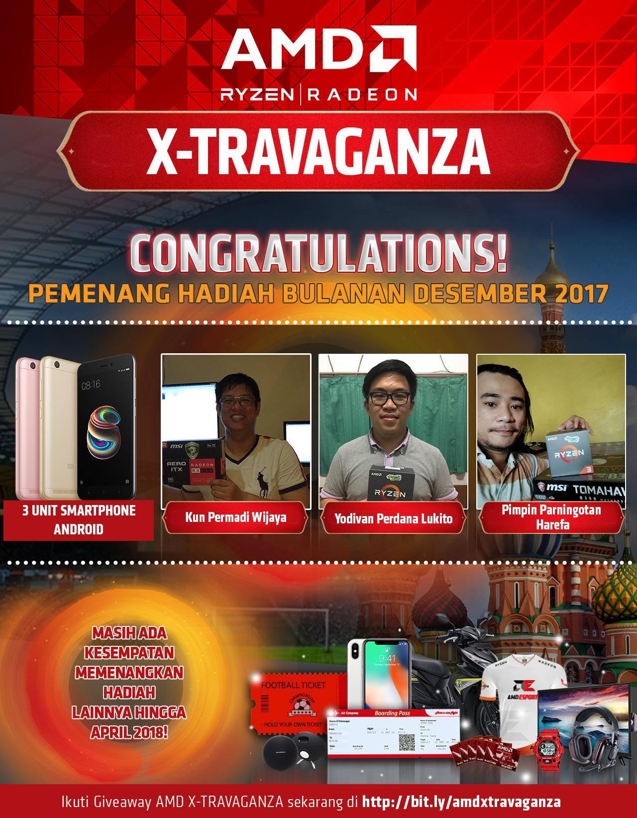 HADIAH BULAN DESEMBER 2017 AMD X-TRAVAGANZA