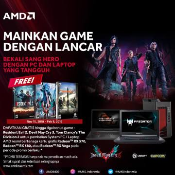 Bonus 3 Game OEM/Laptop AMD