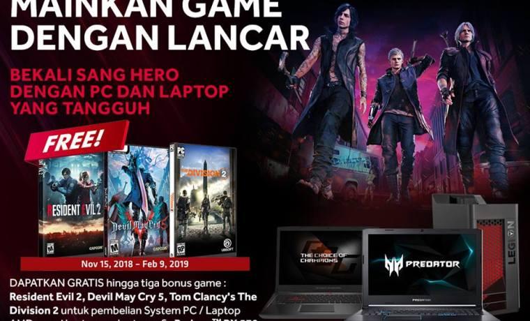 Bonus 3 Game OEM/Laptop AMD