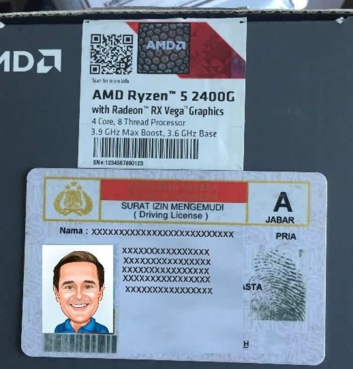 Contoh Foto Identitas Promo AMD