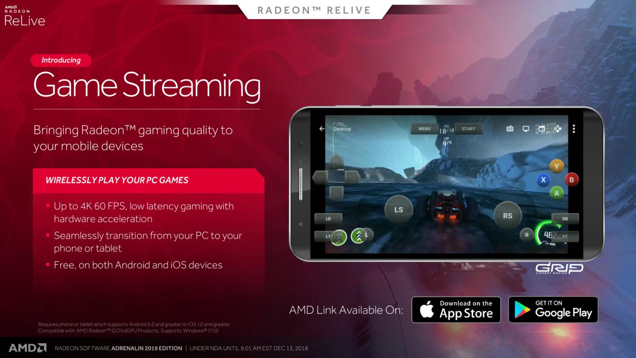 Game Streaming Radeon Adrenalin