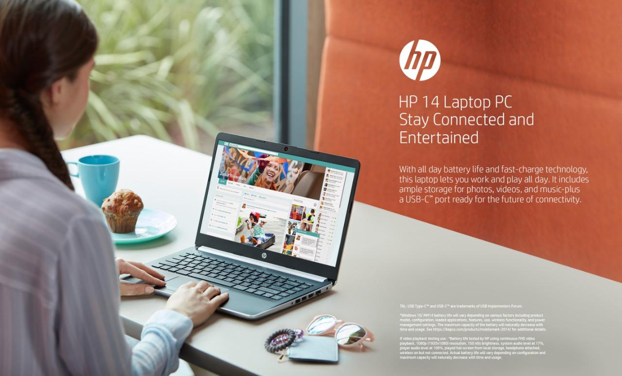 HP 14 Tetap terhubung dan baterai tahan lama