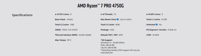 AMD Ryzen PRO 7 4750G