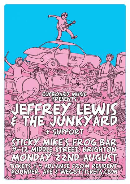 Jeffrey Lewis Brighton poster
