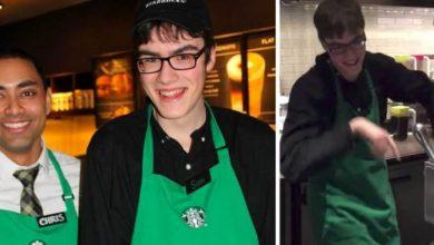 Photo of Έφηβος με αυτισμό κάνει αίτηση για να εργαστεί στο Starbucks και δεν μπορεί να σταματήσει να χορεύει όταν παίρνει τη δουλειά