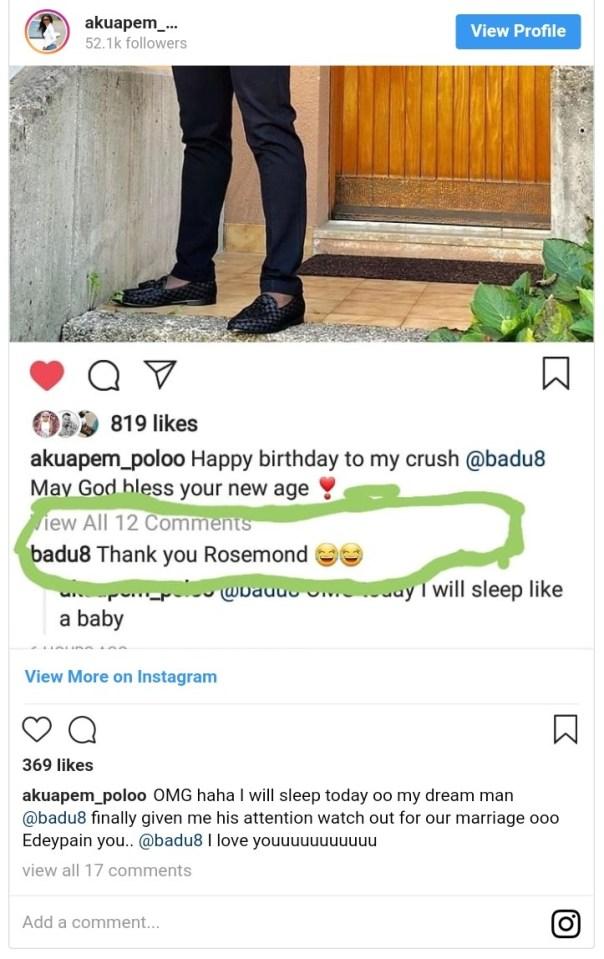 Rosemond Brown Reacts After Receiving Comment From Emmanuel Agyeman Badu (2)