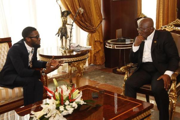D'Banj With Nana Akufo-Addo In Ghana