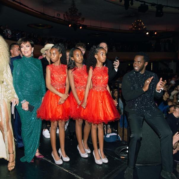 Diddy's Daughters Backup Dancers Diana Ross' 75th Birthday Celebration (2)