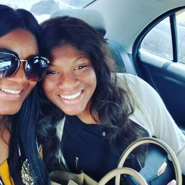 Omotola Jalade Celebrates As Daughter Princess Returns Home After 2 Years (3)