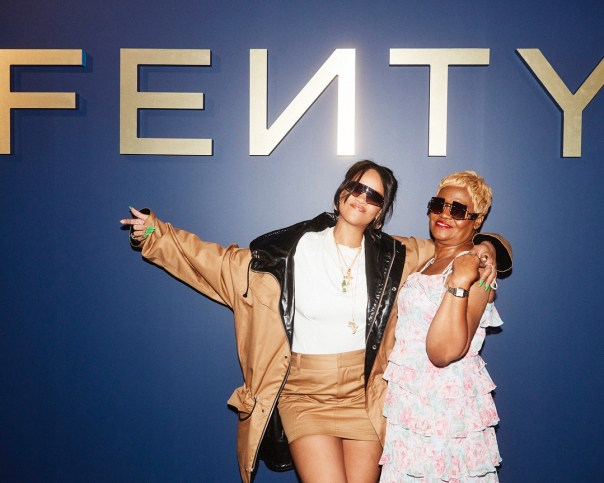 Rihanna Poses With Her Mom