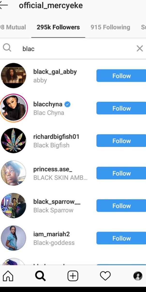 Blac Chyna Follows Mercy Eke On Instagram (2)